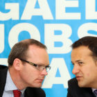 Simon Coveney and Leo Varadkar Pic:Maxpix-no fee
