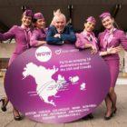 Niall MacCarthy, MD, Cork Airport welcomes cabin crew members Andrea Lisa Kjartansdottir, Andrea Osk Porkelsdottir, Soldis Bjorg Oskardottir and Nanna Margaret Kristinsdottir to Cork Airport, May 19 2017