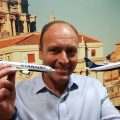Kenny Jacobs, Chief Marketing Officer of Ryanair, announcing Ryanair's connecting flights from Rome Fiumicino Airport