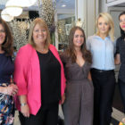 Charlotte Brenner, Belinda Vazquez, Carol O'Connor, Suzanne Mulligan and Elaine Slator at the 2018 Falcon/Thomson brochure launch in Wilde Restaurant, Westbury Hotel
