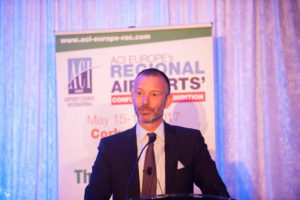 Olivier Jankovec, General Director, ACI Europe, addressing ACI Europe's Regional Airports' Conference and Exhibition at the Fota Island Hotel and Spa, Cork. Photo: Brian Lougheed