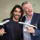 Globalia Group CEO, Javier Hidalgo and Ryanair CEO, Michael O'Leary, at the Air Europa partnership announcement in Madrid
