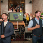 Keith Duffy and Brian McFadden entertain British clients on Fáilte Ireland mission in London