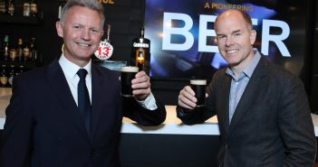 Martin Carpenter, General Manager, ARI Ireland, and Mark Sandys, Global Head of Beer, Baileys & Smirnoff for Diageo. PIC: MAXWELL'S NO REPRO FEE