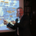 CEO Michael O'Leary poses for Travel Extra at Ryanair press conference, Davenport Hotel, Dublin