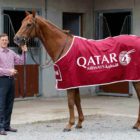 Former champion jockey Johnny Murtagh launches the Qatar Airways Curragh sponsorship with horse Windsor Beach