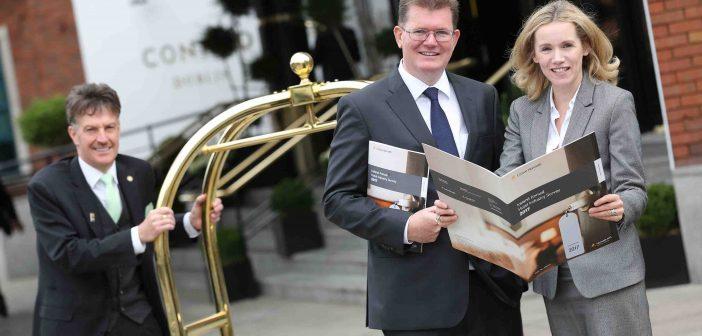 Mairea Doyle-Balfe, Director, Hotel and Tourism Leisure at Crowe Horwath, and Aiden Murphy, Partner at Crowe Horwath, at the launch of the 22nd Annual Ireland Hotel Survey. Photos: Julien Behal