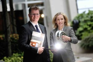 Mairea Doyle-Balfe, Director, Hotel and Tourism Leisure at Crowe Horwath, and Aiden Murphy, Partner at Crowe Horwath, at the launch of the 22nd Annual Ireland Hotel Survey. Photos: Julien Behal