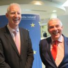 Paul Kelly, CEO of Fáilte Ireland, with Niall MacCarthy, Managing Director of Cork Airport, at the launch of Fáilte Ireland's 'Get Brexit Ready' programme in the tourism body's Dublin headquarters, September 12, 2017