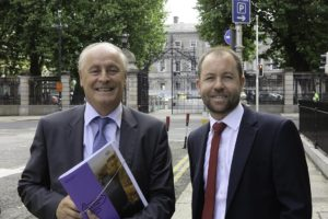 Irish Tourist Industry Confederation Chairman Maurice Pratt and Chief Executive Eoghan O'Mara Walsh at ITIC's pre-budget submission in Buswell's Hotel, Dublin, September 5