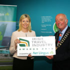 Yvonne Muldoon, Director of Sales at Aer Lingus, and Cormac Meehan, President of the ITAA