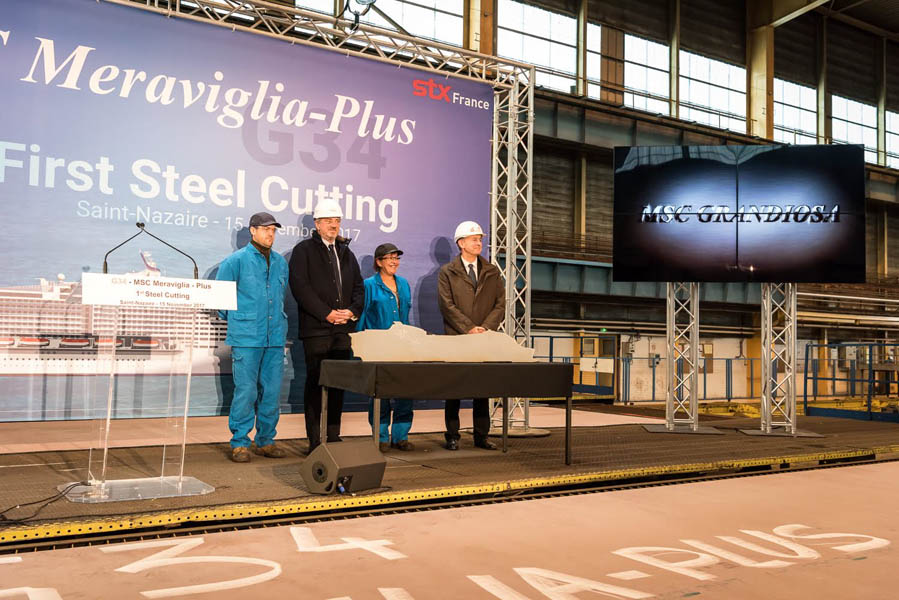 MSC reveals Grandiosa as name of first Meraviglia-Plus ship at ceremony in France