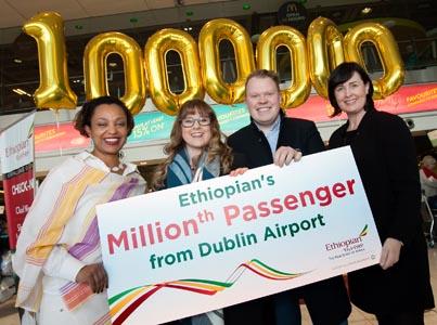 Ethiopian celebrates 1m Irish passengers out of Dublin amid rising load factors