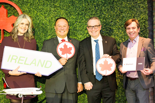 Shannon publicises its new Air Canada route at Toronto event