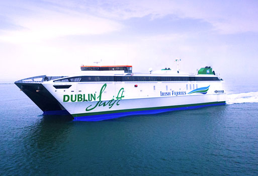Former US Navy ship starts service for Irish Ferries on Dublin-Holyhead route
