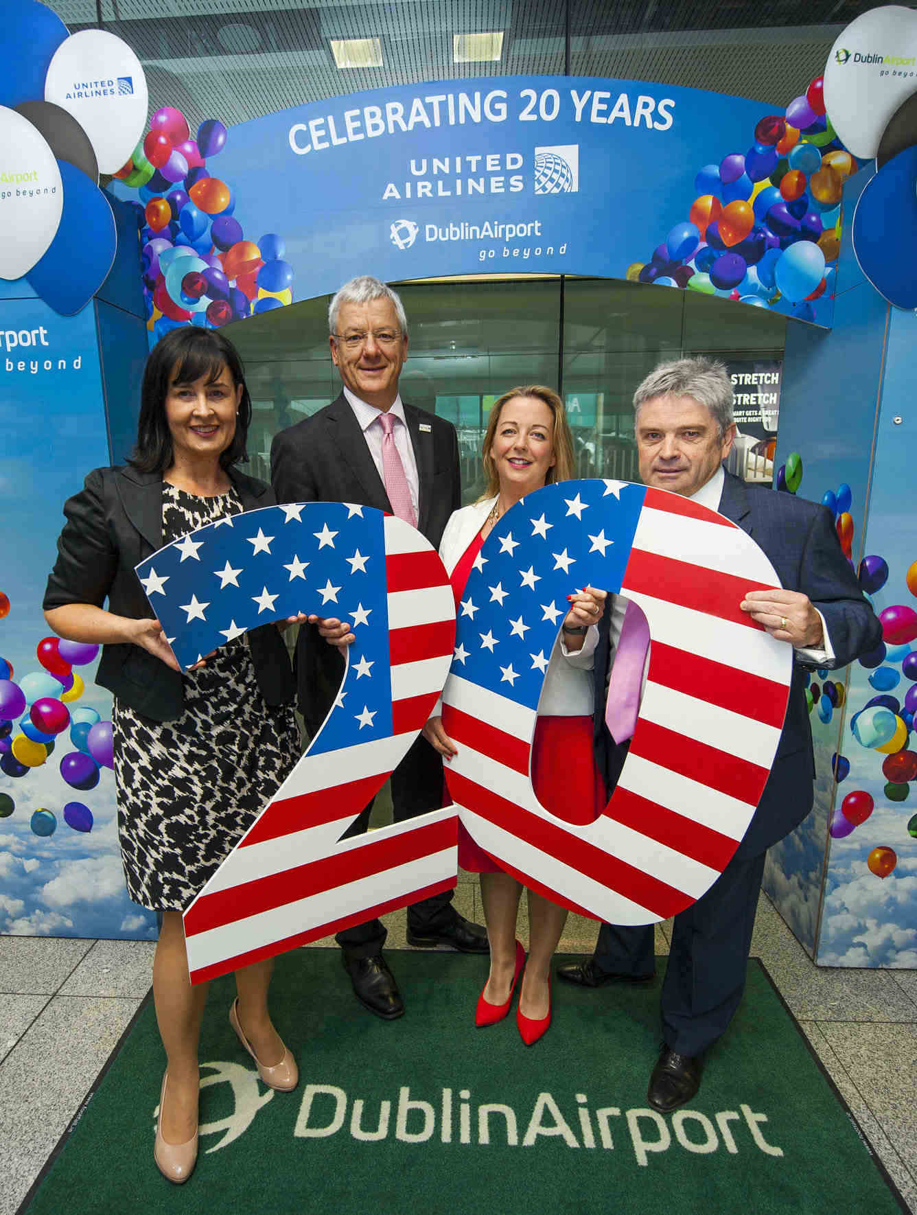 United celebrates 20 years and 2.7m passengers on Dublin to Newark route
