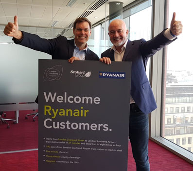 It's Stobart versus Stobart as airport launches Ryanair service from Dublin to Southend