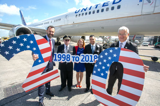 United Airlines carries almost 2m passengers between Shannon and Newark as it celebrates milestone