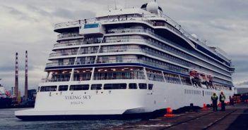 Cruise ship Viking Sky in Dublin, August 2018