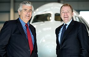 CityJet CEO Pat Byrne and Aer Lingus CEO Stephen Kavanagh, August 2018
