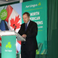 Aer Lingus CEO Stephen Kavanagh at the launch of the airline's new routes to Minneapolis/St Paul and Montreal, Conrad Hotel, Dublin, September 12, 2018