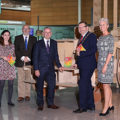 Sarah O'Neill, Deputy Arts Office, Fingal County Council; Paul O'Kane, DAA Chief Communications Officer; Paul Read, CEO Fingal County Council, Anthony Lavin, Mayor of Fingal and Siobhán O'Donnell, Head of External Communications, DAA, at the launch of Culture Night Fingal in Dublin Airport.