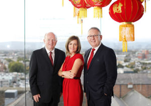 Paul Carty, Managing Director, Guinness Storehouse; Fiona Herald, Business Development Manager, Guinness Storehouse and Paul Keeley, Commercial Director, Fáilte Ireland.