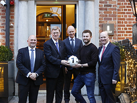 Martin Cassidy, Donnie Cassidy, Donal Cassidy, Jack McCaffrey and Peter Cassidy pictured at the official launch of Hotel 7, Dublin 1 on Wednesday, 28th November.