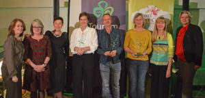 Finola O'Mahony, Tourism Ireland; Fiona Field and Helen Collins, both A Taste of West Cork Food Festival; Lenneke Hoope, Dutch journalist and winner of a press award in the 'special interest' category; Leo van Marrewijk, journalist and winner of a press award in the 'newspaper' category); Nanda Raaphorst, journalist and winner of a press award in the 'lifestyle' category; Danielle Neyts and Karen van der Horst, both Tourism Ireland, at the 'Ierland Press Awards' in Amsterdam. Pic – Tourism Ireland (no repro fee) Further press info – Sinéad Grace, Tourism Ireland 087 685 9027