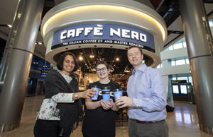 Parool Rajput, Senior Project Manager, Terminals, DAA; Emma McCusker, Café Nero; and Emmet Murphy, Programme Manager, DAA, December 27, 2018