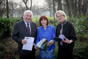 Michael Parsons, Chair of the Heritage Council, Minister Josepha Madigan and Virginia Teehan, the newly-appointed Chief Executive of the Hertiage Council announced that six towns will share in €1m in capital funding under the Historic Towns Initiative 2019.