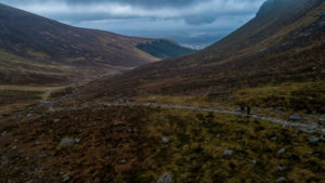 Drone shot of Mourne Mountains