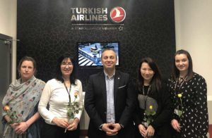 Hasan Mutlu celebrating International women's day, with Caroline Resch, Deniz Lahio, Abby Chung and Martyna Cich